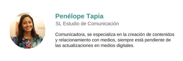 Sobre el autor: Penélope Tapia
